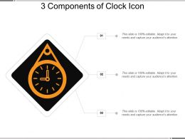 3 Components Of Clock Icon Example Of Ppt