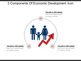 3 Components Of Economic Development Icon Example Of Ppt