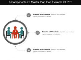3 Components Of Master Plan Icon Example Of Ppt