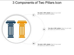 3 Components Of Two Pillars Icon Example Of Ppt