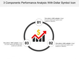 3 Components Performance Analysis With Dollar Symbol Icon