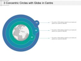 3 Concentric Circles With Globe In Centre