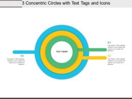 3 Concentric Circles With Text Tags And Icons