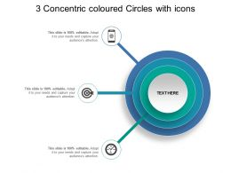 3 Concentric Coloured Circles With Icons