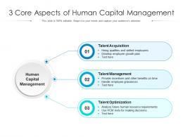 3 Core Aspects Of Human Capital Management