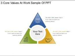 3 Core Values At Work Sample Of Ppt
