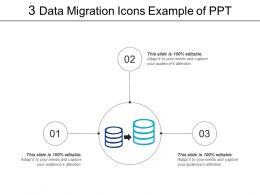 3 Data Migration Icons Example Of Ppt