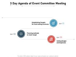 3 Day Agenda Of Event Committee Meeting