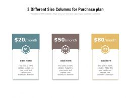 3 Different Size Columns For Purchase Plan