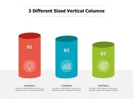 3 Different Sized Vertical Columns