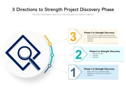 3 Directions To Strength Project Discovery Phase