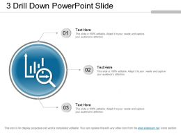 3 Drill Down Powerpoint Slide