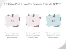 3 Editable Post It Note For Business Example Of Ppt