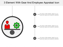 3 Element With Gear And Employee Appraisal Icon