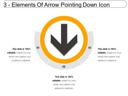 3 Elements Of Arrow Pointing Down Icon
