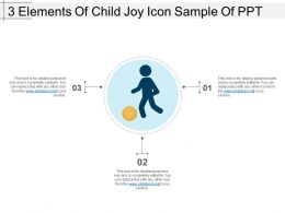 3 Elements Of Child Joy Icon Sample Of Ppt