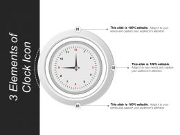 3 Elements Of Clock Icon Sample Of Ppt