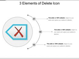 3 Elements Of Delete Icon