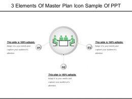 3 Elements Of Master Plan Icon Sample Of Ppt