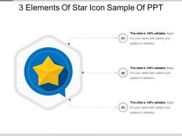 3 Elements Of Star Icon Sample Of Ppt