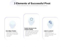 3 Elements Of Successful Pivot