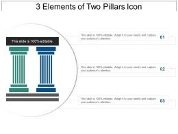 3 Elements Of Two Pillars Icon Sample Of Ppt