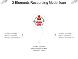3 Elements Resourcing Model Icon Ppt Slide Show