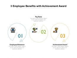 3 Employee Benefits With Achievement Award