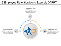 3 Employee Retention Icons Example Of Ppt