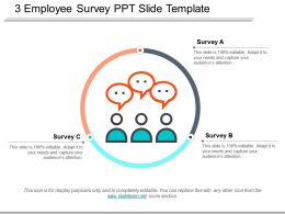 3 Employee Survey Ppt Slide Template