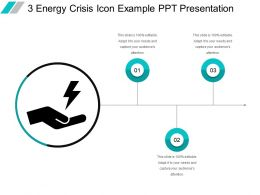 3 Energy Crisis Icon Example Ppt Presentation