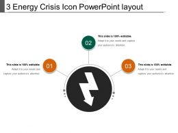 3 Energy Crisis Icon Powerpoint Layout