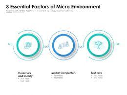 3 Essential Factors Of Micro Environment