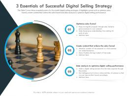 3 Essentials Of Successful Digital Selling Strategy