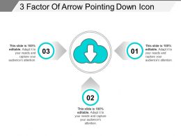 3 Factor Of Arrow Pointing Down Icon