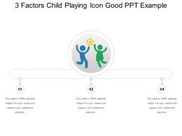 3 Factors Child Playing Icon Good Ppt Example
