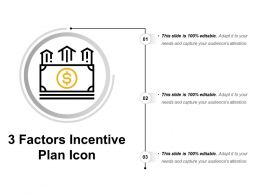 3 Factors Incentive Plan Icon