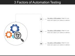3 Factors Of Automation Testing PPT Examples Slides