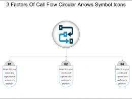 3_factors_of_call_flow_circular_arrows_symbol_icons_Slide01