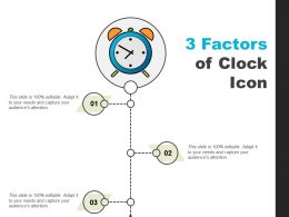 3 Factors Of Clock Icon Powerpoint Shapes
