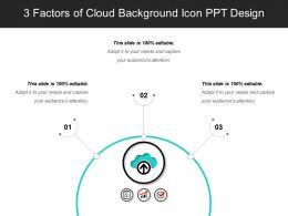 3 Factors Of Cloud Background Icon PPT Design