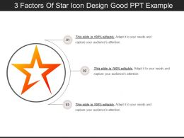 3 Factors Of Star Icon Design Good Ppt Example