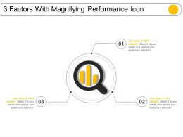 3 Factors With Magnifying Performance Icon