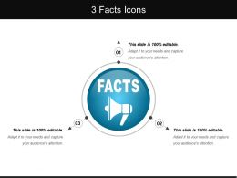 3 Facts Icons Example Of Ppt