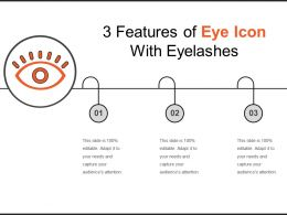 3 Features Of Eye Icon With Eyelashes