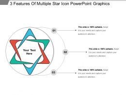 3 Features Of Multiple Star Icon Powerpoint Graphics