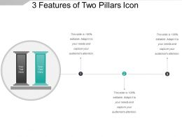3 Features Of Two Pillars Icon Powerpoint Images