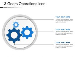 3 Gears Operations Icon