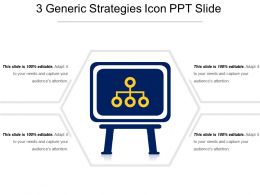 3 Generic Strategies Icon Ppt Slide