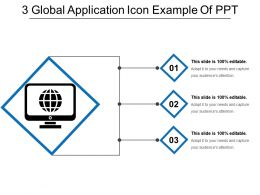 3 Global Application Icon Example Of Ppt